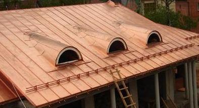 Покрытие фальцевой крыши