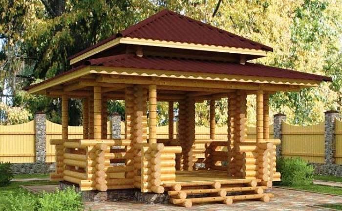 Изготовление деревянных беседок по каркасной технологии: плюсы и минусы